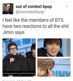 방탄 I just love Jimin right there saying these things without even looking at the members
