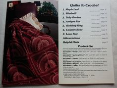 Patterns for seven quilts to crochet