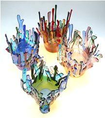 fused glass coasters - Google Search