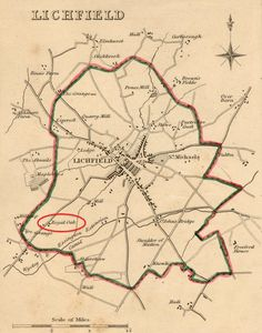 Lichfield map Old Maps, City Maps, Old City, Beautiful Homes, How To Plan, Words, Spaces, Antique Maps, Old Town