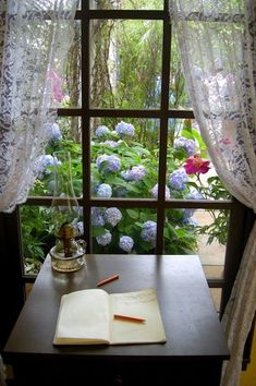 6 Creative And Inexpensive Unique Ideas: Curtains Rods Shelf grey curtains brass pole.No Sew Curtains Short curtains design detail.Curtains For Sliding Patio Door Ideas. Decoration Shabby, Decoration Design, Interior Exterior, Interior Design, Looking Out The Window, Through The Window, Window View, Windows And Doors, Cottage Style