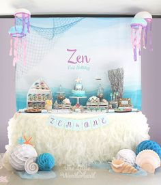 Under the Sea Birthday Party via Kara's Party Ideas KarasPartyIdeas.com (22)