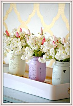 Look at this distressed mason jar tutorial. These are great for home decor or gifts.