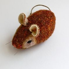 Wool Pocket Mouse Candied Ginger by Marjji on Etsy $15.00