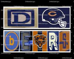 NFL Chicago Bears Framed Alphabet Photo Art by DAMartndesigns, $35.00