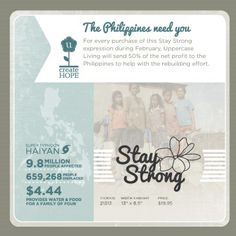 STAY STRONG:  Be part of the relief efforts in the Phillippines with Uppercase Living. #TyphoonHaiyan #UppercaseLiving #Staystrong #inspirationwithkathryn #Phillippines