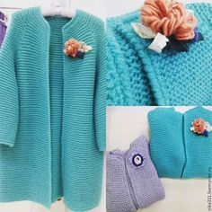 This post was discovered by An Knitted Coat Pattern, Knitted Cape, Crochet Coat, Crochet Cardigan, Crochet Clothes, Coat Patterns, Knitting Patterns, Big Knits, How To Purl Knit