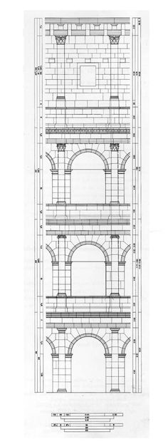Reconstruction of the Elevation of the Colosseum