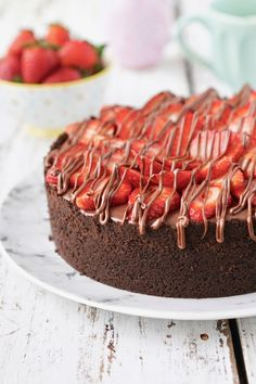 Torta de morango e chocolate   Flamboesa