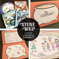 Stone Soup: A Literacy & Community Unit - Susan Jones Library Activities, Preschool Activities, Communities Unit, Early Finishers Activities, Notes To Parents, Stone Soup, Thanksgiving Activities, Holiday Activities, Teaching First Grade