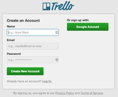 Trello – after every refresh an other funny example of name and email.