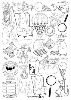 Znajdź i policz – głoski [r] i [l]. Wersja czarno-biała - Printoteka.pl Speech Therapy, Valentines, Education, Handwriting, Schools, Logos, Pictures, Ideas, Vision Therapy