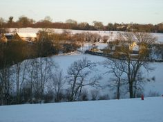 Snow across the valley at Eco-Gites of Lenault
