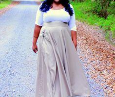 Plus Size Full Maxi Skirt  NEW by aconversationpiece on Etsy, $118.00