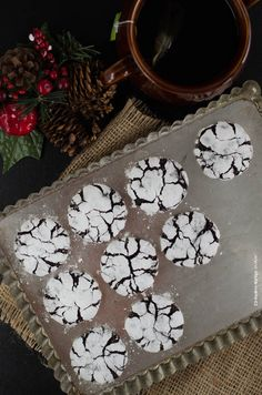 čokoládové crinkles Crinkles, Tiramisu, Sweet, Christmas, Decor, Candy, Xmas, Decoration, Navidad