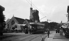 Church and Tram, Leigh-on-Sea
