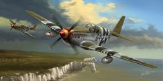 "Flying Cadillacs by Jack Moik, ~Jacklionheart on deviantART | ""The [P-51] Mustang was always one of of my favorite warbirds of all time. I think the 'Razorback' B model with the Malcolm hood is the most beautifull version of this famous airplane."""