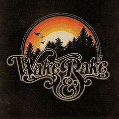 Wake & Bake. A cool vintage graphic with custom lettering by Aaron von Freter for Rockswell. Marijuana, weed, smoke, 420, rock&roll, t-shirt, typography, fashion