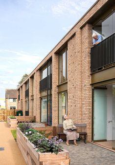Social Housing Architecture, Brick Architecture, Residential Architecture, Brick Cladding, Brick Facade, Brickwork, Townhouse Designs, Residential Complex, Building Facade