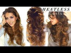 Overnight Heatless Curl Hair Tutorial - #heatlesscurls #Hairtutorial #Hair #diyhair #hairvolume #makeupwearables