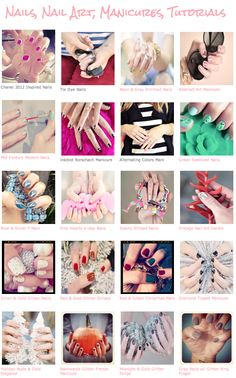 Tons of manicure ideas from ...love Maegan.