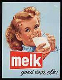 Melk goed voor elk, Milk good for everyone add Vintage Advertising Posters, Old Advertisements, Advertising Signs, Images Vintage, Vintage Pictures, Vintage Ads, Poster Ads, Retro Ads, Old Ads