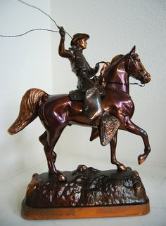 This horse is a sculpt by Gladys Brown Edwards of the extremely talented Arabian from the Crabbet line, Farana, son of Nasik, foaled at Kellogg Ranch in 1929. The rider may very well be Farana's regular rider Mark Smith. Google Farana and diablovista Horse Training Secrets Revealed