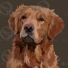 snewdesigns | Golden Retriever | Digital Mans Best Friend, Best Friends, Arte Pop, Dog Portraits, Digital, Dogs, Animals, Beat Friends, Bestfriends