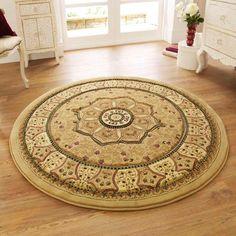 Teppich Eakin in Beige – Area Rugs in living room Wall Carpet, Diy Carpet, Carpet Stairs, Modern Carpet, Living Room Carpet, Rugs In Living Room, Jute, Circular Rugs, Circle Rug