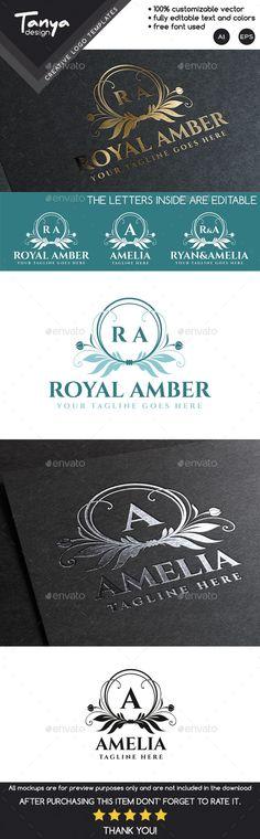 Royal Amber Logo Template #design #logodesign Download: http://graphicriver.net/item/royal-amber-logo-template/9951239?ref=ksioks