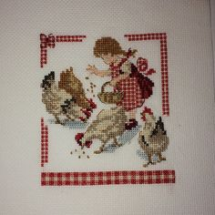 Items similar to Finished-Completed-cross-stitch-Veronique-Enginger-Cocottes made to order on Etsy – Book Cross Stitch Finishing, Cross Stitch Love, Cross Stitch Pictures, Cross Stitch Animals, Cross Stitch Designs, Cross Stitch Patterns, Cross Stitching, Cross Stitch Embroidery, Embroidery Patterns