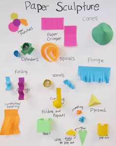From the blog 'Art is Basic'- great poster for paper sculpture techniques.
