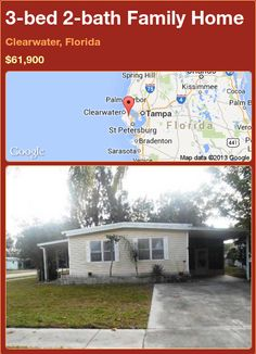 3-bed 2-bath Family Home in Clearwater, Florida ►$61,900 #PropertyForSale #RealEstate #Florida http://florida-magic.com/properties/92496-family-home-for-sale-in-clearwater-florida-with-3-bedroom-2-bathroom