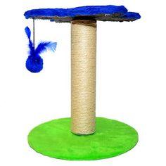 Arranhador Flor Azul São Pet - Meuamigopet.com.br #cat #cats #gato #gatinho #bigode #muamigopet