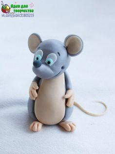Мышка из полимерной глины (10 фото)
