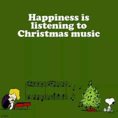 Happiness is listening to Christmas music ❤❤ Peanuts