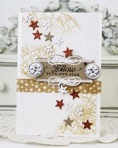 Follow Your Own Star Card by Melissa Phillips for Papertrey Ink (April 2013)