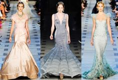 Mermaid fishtail gowns.