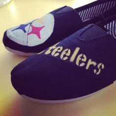 Pittsburgh Steelers hand painted shoes