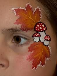 Hey, can I try this for Fall Festival? Face Painting For Boys, Face Painting Designs, Rainbow Face Paint, Christmas Face Painting, Skin Paint, Boy Face, Maquillage Halloween, Autumn Inspiration, Face Art