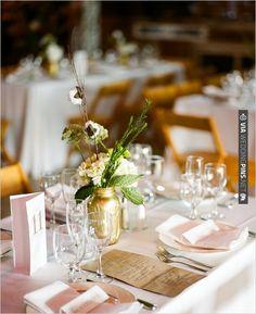 gold mason jars | VIA #WEDDINGPINS.NET