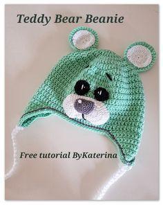 Teddy Bear Beanie Free Pattern – ByKaterina