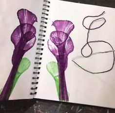 Simple Chain Pulling AKA String art with Ink – Lolly Doodle Studios