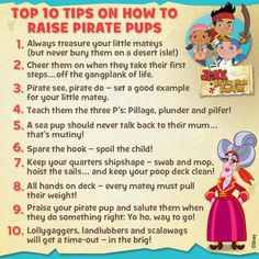 Tips for the pirate parents out there! #mamahook #mothersday #disneyjunior