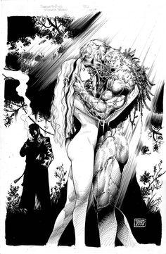 Swamp Thing & Abby - inks//Ed Tadeo/T/ Comic Art Community GALLERY OF COMIC ART