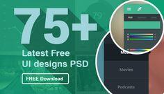 75 + latest UI designs PSD
