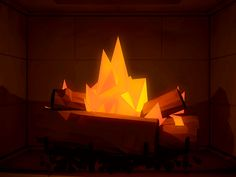 Yule log I put together this past Christmas. Animated in C4D, composited in After Effects.