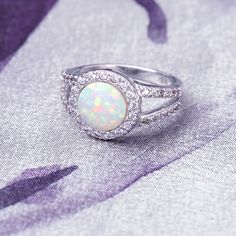 9mm Created Blue Opal with CZ Halo Geometric Triangle Earrings 925 Sterling Silver Womens