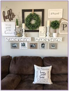 55 amazing and beautiful living room wall decor ideas that you must know 18 - Home Design Ideas Farmhouse Wall Decor, Country Decor, Rustic Farmhouse, Rustic Chic, Farmhouse Style, Kitchen Rustic, Country Living, Country Style, French Country