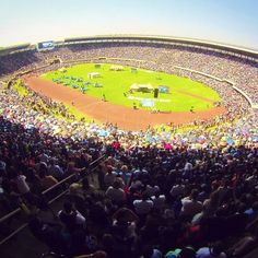 2nd day of the international convention in Zimbabwe. 45,000 expected. Stadium holds 60,000. 74,000+ showed up.  Photo shared by @nickybaby96  Submit